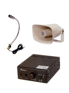 重機に拡声スピーカーとマイクをマグネットで固定したい