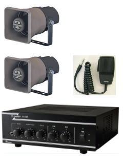 放送装置にパソコンを接続して始業チャイムを鳴らしたい