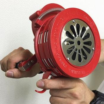 消防カラーのハンディサイレン LK-119R 動画説明