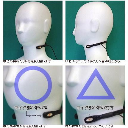 電気喉頭と会話補助装置(マイクスピーカー)に関して