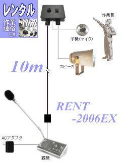 作業用インターホンのレンタル RENT-2006EX-10m