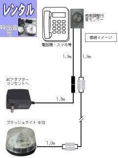 レンタル電話呼出音フラッシュ RENT-380
