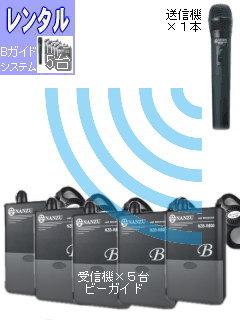 RENT-R-051 ガイドシステム5台レンタル ハンドマイクセット