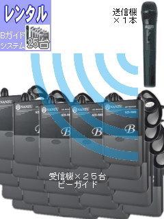 RENT-R25-1 ガイドシステム25台レンタル