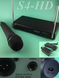 ハンド型ワイヤレスマイク増設セット S4HD
