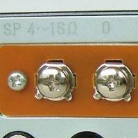 アンプ背面のスピーカー接続端子