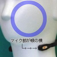 喉横のマイク