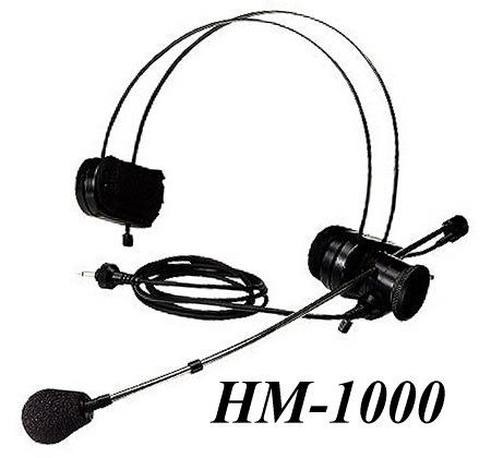 ヘッドセット形マイクロホン HM-1000